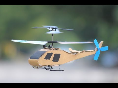 How To Make a Helicopter - Cardboard flying Helicopter