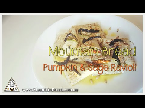 Mountain Bread™ - Pumpkin Ravioli with Sage Butter Sauce