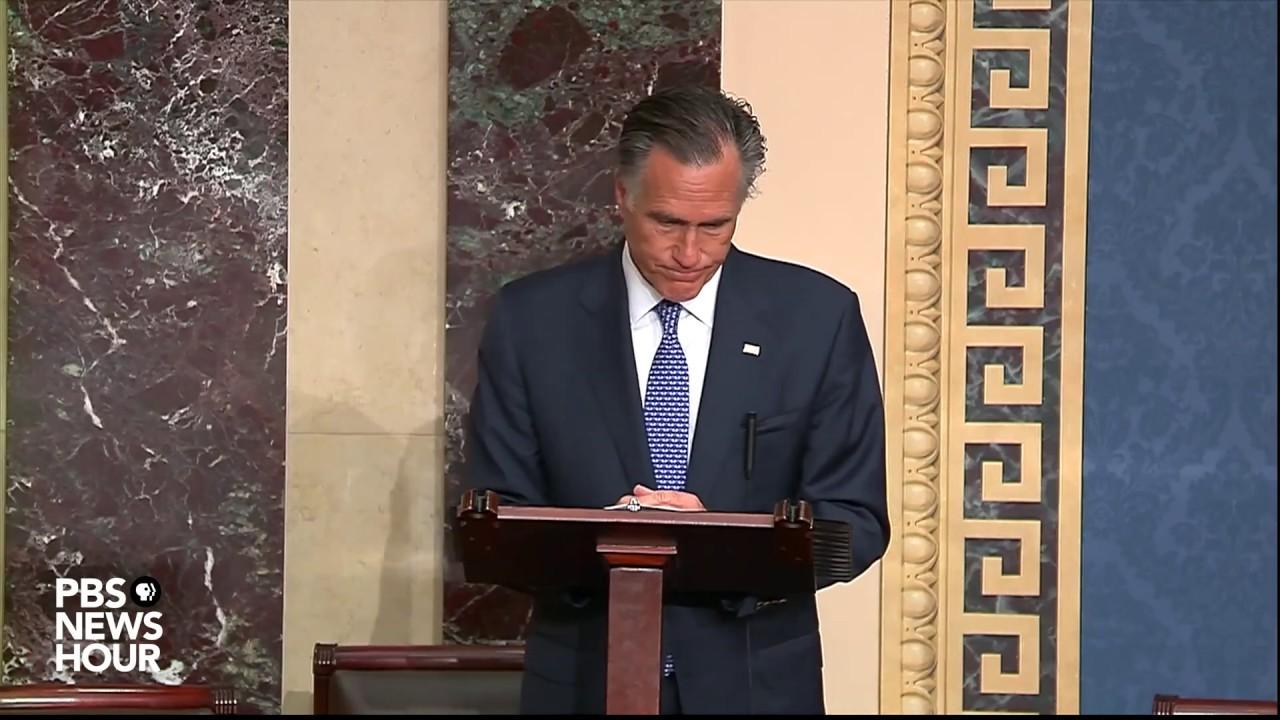 WATCH: Sen. Romney's full statement on Trump's impeachment trial | Trump's first impeachment trial