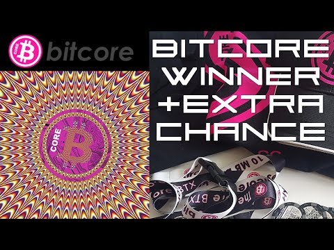 Bitcore Competition Winner + Extra Chance