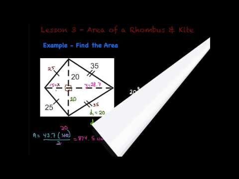 Lesson 3 - Area of a Rhombus & Kite