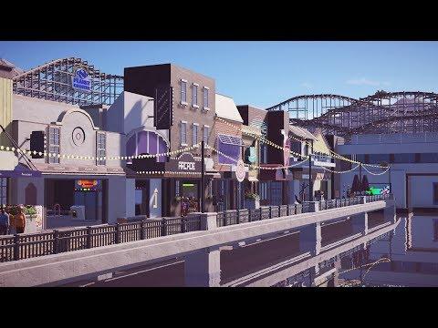 boardwalk facade - planet coaster - PlanCo CityWalk
