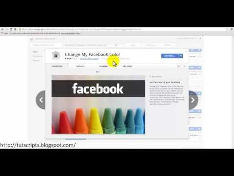 How you can change the Facebook color on Google Chrome