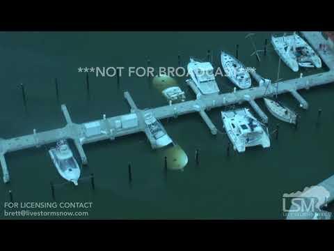 9-21-2017 Palmas Del Mar, Puerto Rico Hurricane Maria aftermath sunken boats marina
