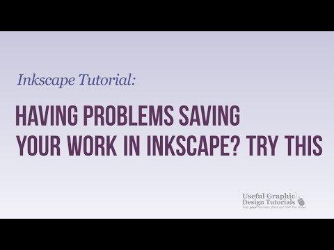 Can't save image correctly in Inkscape? Here's one possible solution