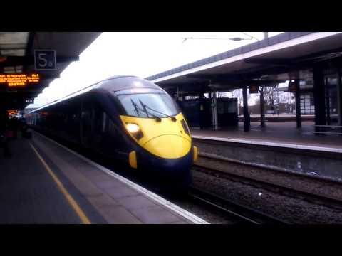 High Speed Train At Ashford international Train Station.