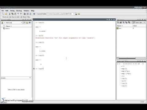 Matlab Essentials - Sect 18 - Exponentials and Logarithms