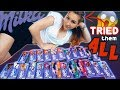 I Tried Rated EVERY SINGLE MILKA Bar FLAVOR SNACK REVIEW