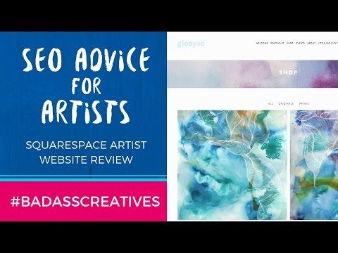 Squarespace Artist Website Review: SEO Advice for Artists