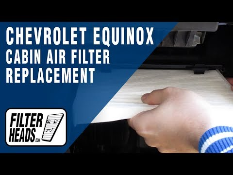 How to Replace Cabin Air Filter 2012 Chevrolet Equinox