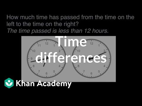 Time differences | Math | 3rd grade | Khan Academy