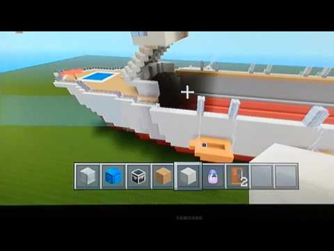 How to make cruise ship in minecraft part 13