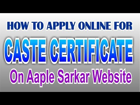 How to apply for online caste certificate.