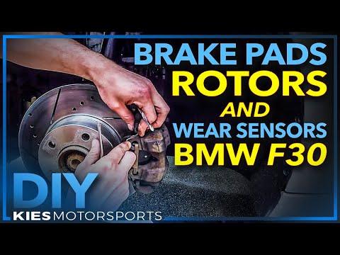 F30 BMW 328i 2013 Brake Pads, Rotors and Wear Sensor Change (Hawk Brake Pads and PowerStop Rotors)