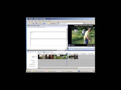 Windows Movie Maker Tutorial - How to make a slideshow with music