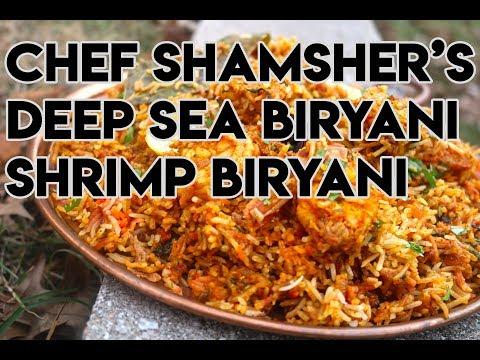 Shrimp Biryani aka Deep Sea Biryani Recipe | How to make Shrimp Biryani