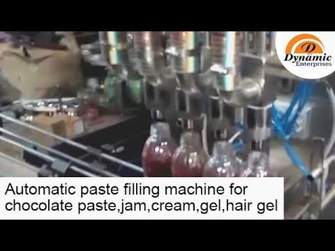 Automatic paste filling machine for chocolate paste,jam,cream,gel,hair gel