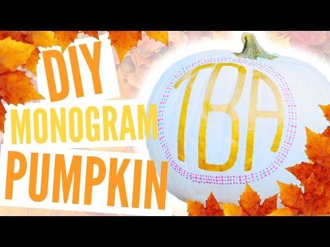 EASY DIY Fall Monogram Painted Pumpkin Tutorial | TutorialsByA