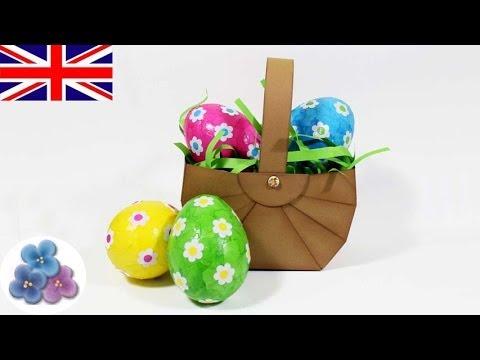 How to make Easter Egg Basket *Scrapbook Ideas* Easter Decorations DIY Easter Ideas Mathie