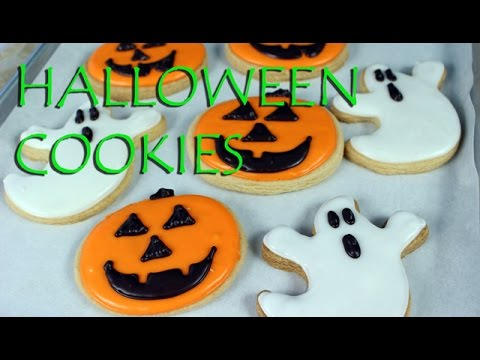 Decorated Halloween Cookies~ vegan || Gretchen's Bakery