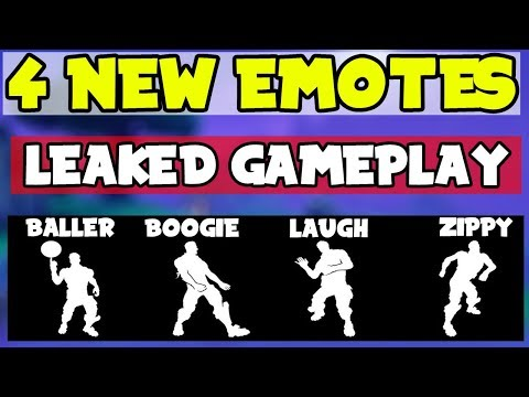 *NEW* Fortnite: LEAKED Emotes/Dances Including GAMEPLAY! (4 New Emotes Leaked)