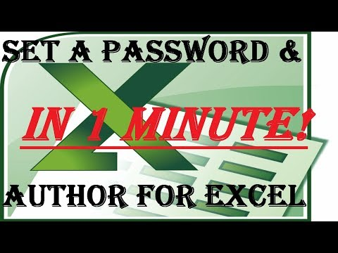 How to Password Protect & Add an Author in MS Excel - 2018