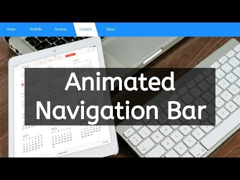 how to create navigation bar using html and css