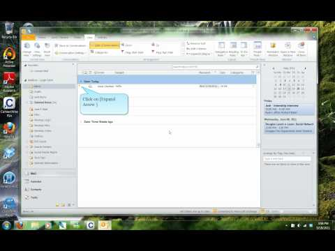 [Outlook 2010 Tutorial] Group Emails by Conversation