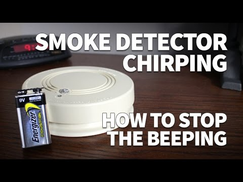 Smoke Detector Chirping – How to Stop the Beeping and Change Battery in a Hard Wired Smoke Detector