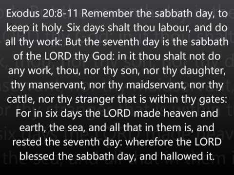 Church on Sunday - Are you keeping the Sabbath Holy?