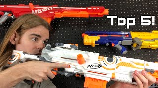 NERF TOP 5 BEST Nerf SNIPERS Of All Time!