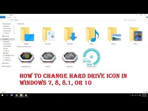 How to Change Hard Disk Drive Icon on Windows 7,8,10 100% working & too easy -TECH GURUJI