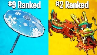 RANKING EVERY GLIDER IN FORTNITE FROM WORST TO BEST