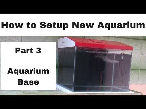 How to setup new aquarium   Part 3   Aquarium Base Platform