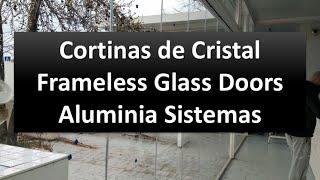 [Aluminia Sistemas] Cortinas de Cristal - Cancel de vidrio plegadizo