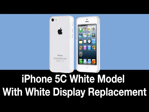 iPhone 5C White (Black to White) Display Replacement - Under 3 Min (Sped up with Music)