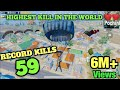 PUBG MOBILE HIGHEST KILL RECORD 59 KILLS | 59 KILLS IN ONE MATCH WORLD RECORD IN PUBG
