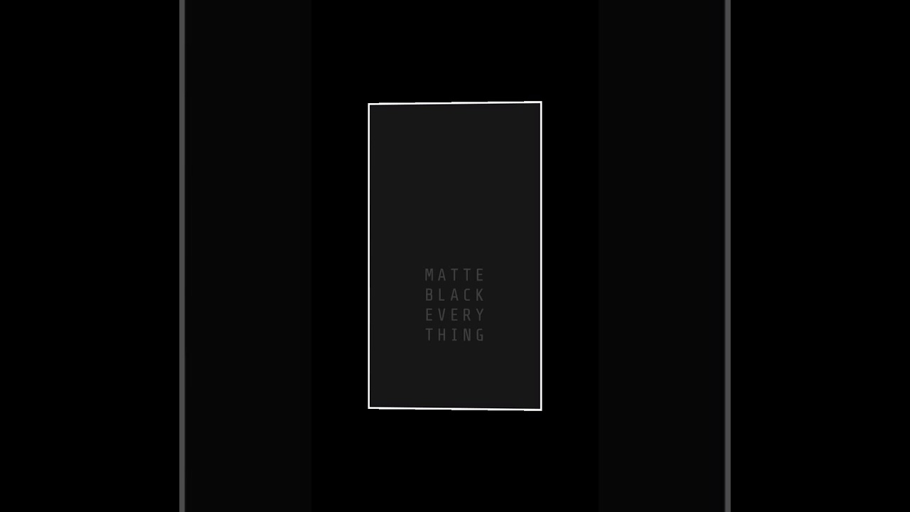 MKBHD - Matte Black Everything - Motion Wallpaper (Samsung Theme Store)