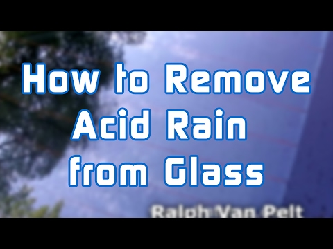 How to Remove Acid Rain from Glass