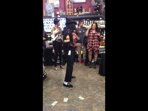 Michael Jackson impersonator at A & S Beverages
