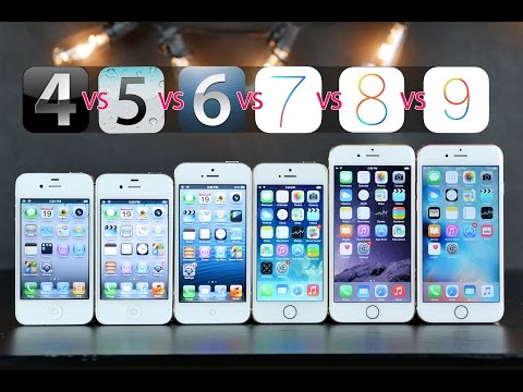 iPhones Compared on Original iOS Versions - iOS 4 vs 5 vs 6 vs 7 vs 8 vs 9!
