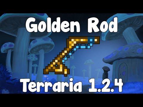 Golden Rod - Terraria 1.2.4 Guide New Fishing Rod! - GullofDoom