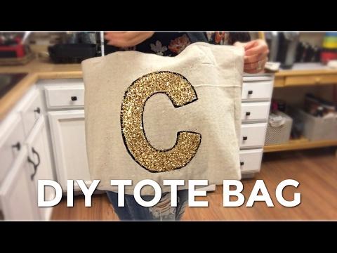 DIY Drop Cloth/Canvas Tote Bag