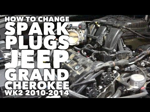 How to change spark plugs Jeep Grand Cherokee WK2 2010-2014 V6 (Long)