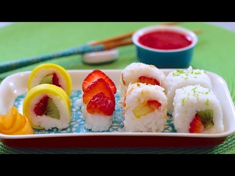 Fresh Fruit Sushi Dessert (Vegan & Dairy-Free Recipe) - Gemma's Bigger Bolder Baking Ep. 52