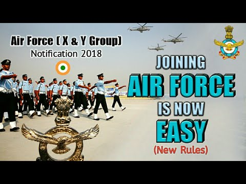 Joining Air Force Is Now Easy - Indian Air Force X & Y Group 2018 Notifictaion (Hindi)