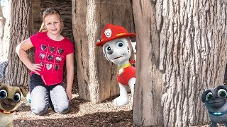 Paw Patrol and Puppy Dog Pals Hide n Seek in the Park with the Assistant