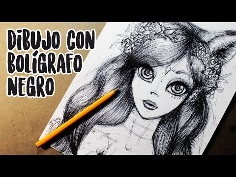 Reto DIBUJO CON BOLÍGRAFO! Drawing with pen challenge (English subtitles) | Diana Díaz