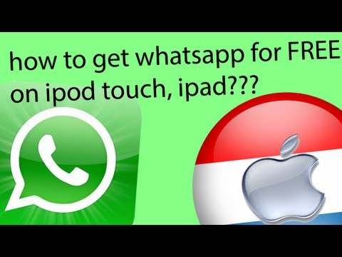 how to get whatsapp on ipod touch or ipad for free