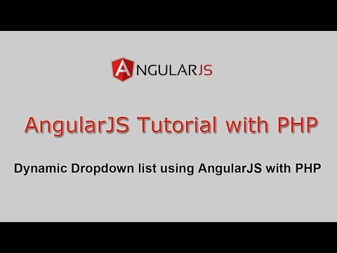 Dynamic Dropdown list using AngularJS with PHP